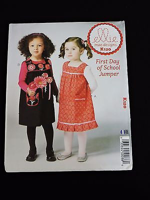First Day of School Jumper Sewing Pattern Ellie Mae Kwik Sew K120 Toddler
