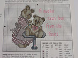 For the Love of Cross Stitch magazine Leisure Arts May 1990 21 projects Bears