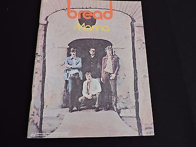 Bread Manna Music Book Piano 1971 Screen Gems Charles Hansen Music