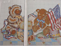 For the Love of Cross Stitch magazine July 1992 20 projects Teddy America USA
