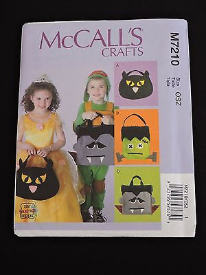 McCall's Crafts Sewing Pattern M7210 Halloween Candy Treat Bags Tiny Seamstress
