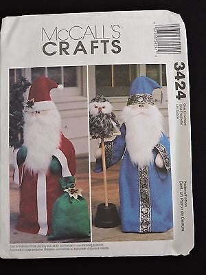 McCall's Crafts Sewing Pattern 3424 Santa Wizard Wizardry Home Christmas Decor