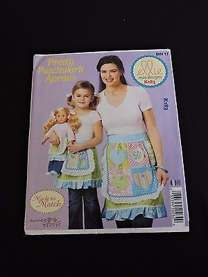 Pretty Patchwork Aprons Made to Match Misses Girls Sew Pattern Ellie Mae K183