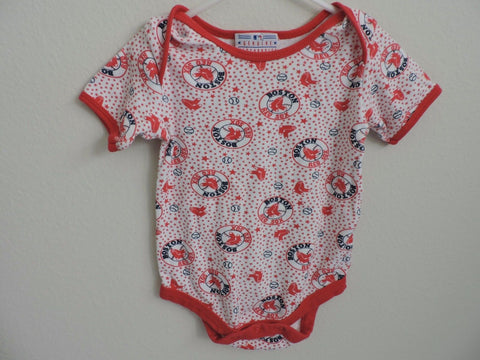 Boston Red Sox Baseball Baby Boy One Piece Bodysuit Infant 18M Short Sleeves EUC