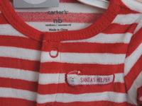 Carters One Piece Santa December First Christmas Baby Shower Gift Idea NWT Red