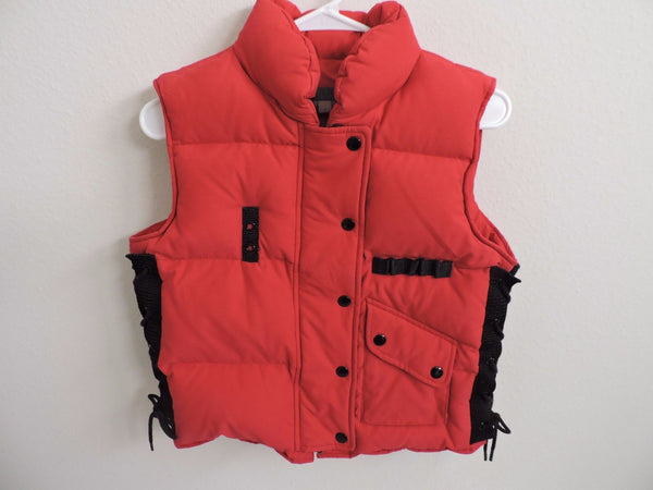 5/48 Red Vest Outerwear Fall Fashion Down Warm Outdoors Puffer S Winter Skiing