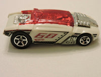 2011 Hot Wheels Rogue Hog White/Red 68 Loose 4-Lane Elimination Pearl White