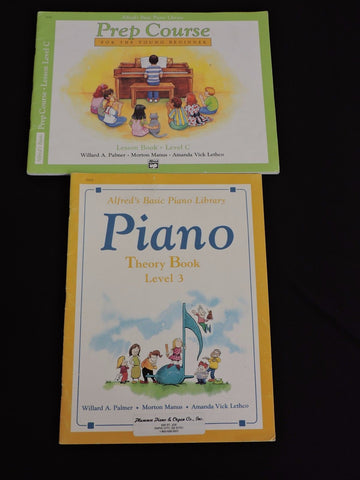 Alfred's Basic Piano Library Theory Book & Prep Course Lot 2 Level 3 C