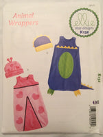 Ellie Mae Sewing Pattern K132 Infant Baby Bunting Animal Wrap Alligator XS-XL