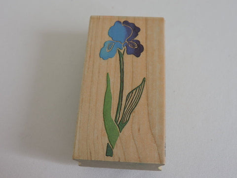 All Night Media Iris Flower Rubber Stamp Posh Impressions Dee Gruenig Garden 3""