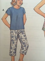 Kwik Sew Pattern 3477 Girls Camisole Pajamas Sleep Pants Shorts PJs Sz XS-XL UC