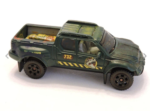 2007 Matchbox Dino Adventure Badlander™ Matte Green Explorer Leader Mattel