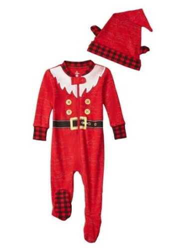 Petit Lem Infant Baby Elf Costume Romper Outfit Hat Christmas Family Photo Gift