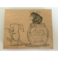 Stampa Rosa House Mouse Stamp Dipped in Chocolate Mudpie Muzzy Food Humor Funny