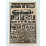Stampendous Rubber Stamp Railroad Poster P156 Trains Travel Omaha Chicago Crafts