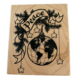 PSX Stamp Peace Word Globe Ornament Christmas Card Making Travel Holidays G1175