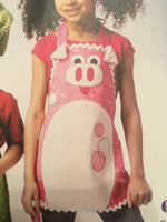 Ellie Mae Pattern K114 Hat Aprons Cooking Critters Frog Pig Animals Kids Uncut