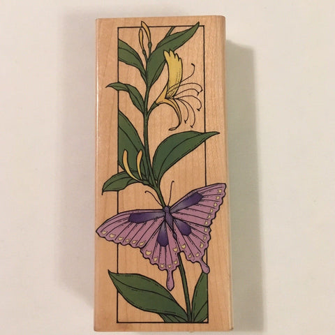 Hero Arts Butterfly Bookmark Rubber Stamp Crafting Scrapbooking Card Making H922