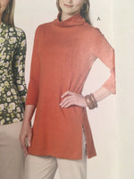 Butterick See & Sew Pattern B5511 Misses Tops Tunic Side Slit Wrap Style 8-12 UC