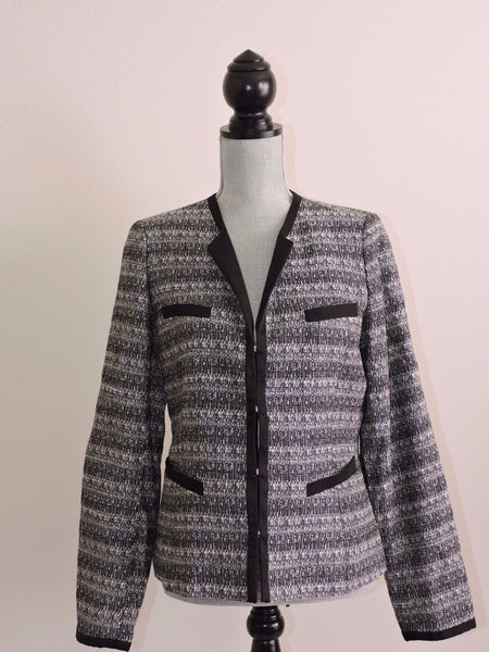 Anne Klein Black White Blazer Jacket Career Easy to Coordinate Professional 10