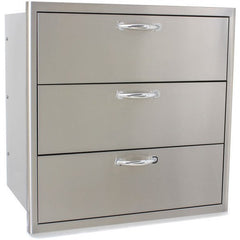 Blaze 30 Inch Triple Access Drawer  SKU BLZ-30W-3DRW