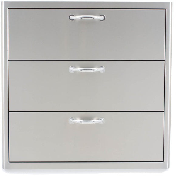 Blaze 30 Inch Triple Access Drawer  SKU BLZ-30W-3DRW - Front View