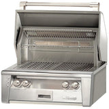 "Alfresco 30"" Standard Built-In Grill ALXE-30-LP - front view - MNKGrills"