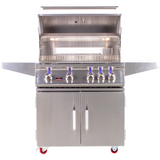 "Bonfire 34"" 4 Burner Grill on cart W/Rotisserie Kit - M&K Grills"