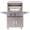 Image of Bonfire 34 inch 4 Burners Grill on cart with rotisserie kit - M&K Grills