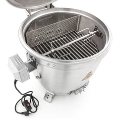Blaze Rotisserie Kit w/Charcoal Basket for Kamado BLZ-KMDO-ROTIS