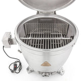 Blaze 20 inch Kamado Rotisserie Kit with Charcoal Basket BLZ-KMDO-ROTIS - Installed