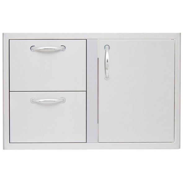 Blaze 32-Inch Access Door & Double Drawer Combo SKU BLZ-DDC-R - M&K Grills