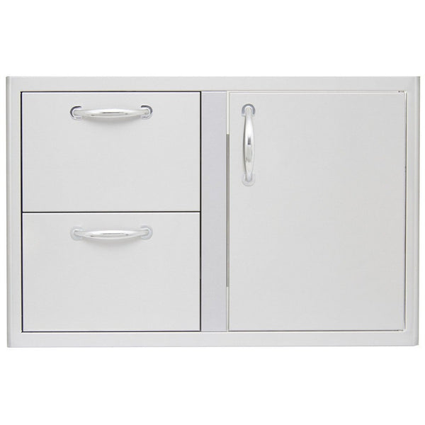 "Blaze 32"" Access Door & Double Drawer Combo SKU BLZ-DDC-R - Front"