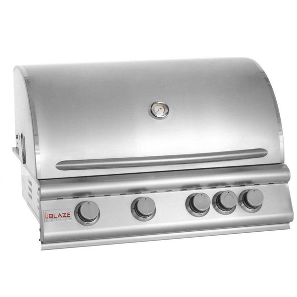 Blaze 32 inch 3 Burner W/Rear Burner SKU BLZ-4 Built-In Grill - Angled
