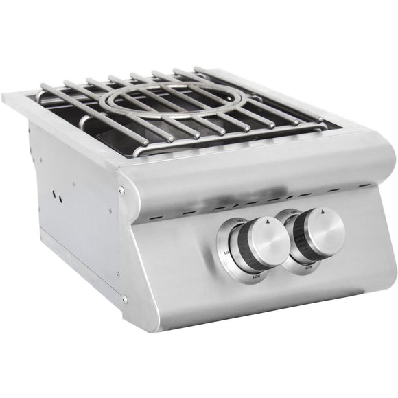 Blaze Built-In High Performance Power Burner SKU BLZ-PB - Angled View