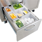 Blaze Cart for Gas Griddle SKU BLZ-GRIDDLE-CART - Insulated Drawer Food Containers