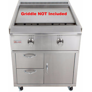 Blaze Cart for Gas Griddle SKU BLZ-GRIDDLE-CART - M&K Grills