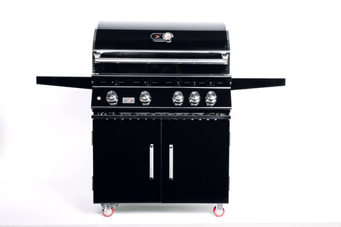 Bonfire-Black-Stainless-Steel-34-and-4-Burner-grill-on-cart-with-rotisserie-kit-Black-Series-CBF4DD-B