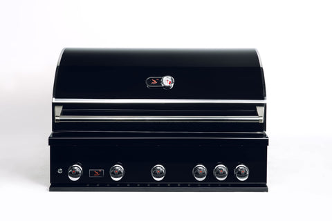 Bonfire-Black-Stainless-Steel-42-and-5-Burner-grill-built-in-with-rotisserie-kit-Black-Series-CBB500-B
