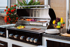 Bonfire-Black-Stainless-Steel-42-and-5-Burner-grill-built-in-with-rotisserie-kit-Black-Series-Island 2