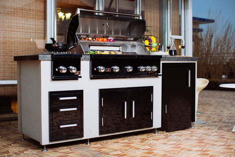 Bonfire-Black-Stainless-Steel-42-and-5-Burner-grill-built-in-with-rotisserie-kit-Black-Series-Island 4