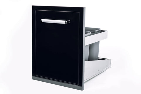 Bonfire-Black-Stainless-Steel-outdoor-BBQ-Island-kitchen-Roll-Out-Drawer-Trash-Bin-Black-Series-CBATC-B-2