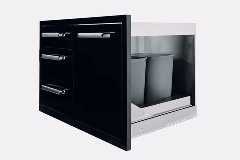 Bonfire-Black-Stainless-Steel-outdoor-BBQ-Island-kitchen-Roll-Out-Drawer-Trash-Bin-Black-Series-CBATDT-B-2
