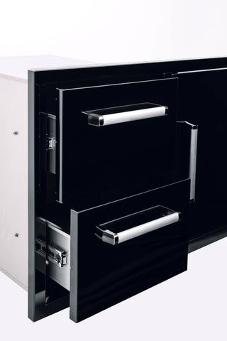 Bonfire-Black-stainless-steel-outdoor-kitchen-and-BBQ-island-Door-and-double-Drawer-Combo-Black-Series-CBADC-B-2