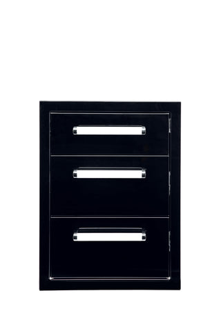 Bonfire-Black-stainless-steel-outdoor-kitchen-and-BBQ-island-triple-Drawer-Black-Series-CBATD-B