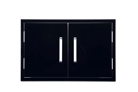 Bonfire-Black-tainless-Steel-Outdoor-Kitchen-Storage-Access-double-door-Black-Series-CBADD-B