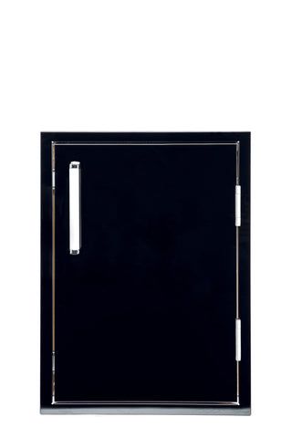 Bonfire-Black-tainless-Steel-Outdoor-Kitchen-Vertical-Storage-Access-door-Black-Series-CBASDV1724-B