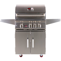 Bonfire 28″ 3 Burner Grill on Cart with Rotisserie Kit