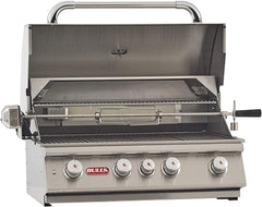 Bull BBQ Angus 30-Inch 4-Burner Built-In Grill with Rear Infrared Burner