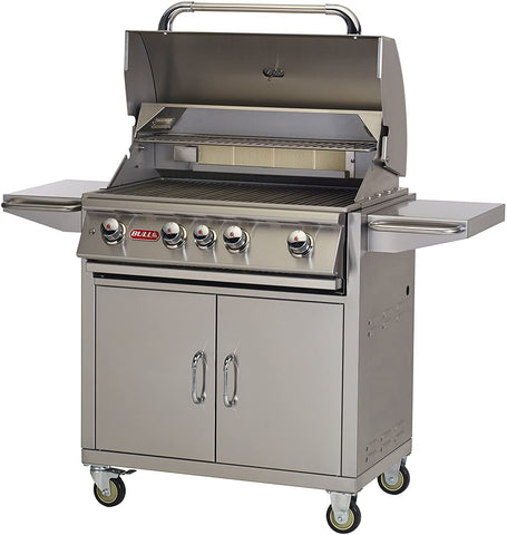 Bull BBQ Angus 30-Inch 4-Burner Freestanding Grill with Rear Infrared Burner